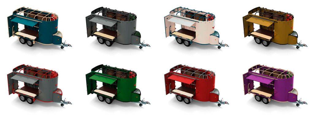 coloured caravan - many options possible
